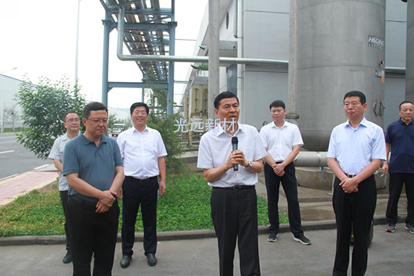 Li Gongle, Secretary of the Anyang municipal Party committee, led the Anyang key project to visit the company.